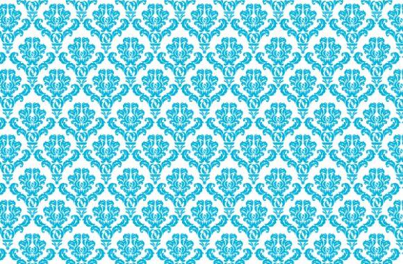 Floral-3, Damask, Damask Vector Graphic Damask Web Banner Vector Illustration 5