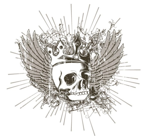 With, Dirt, Design, T-shirt, Floral-3 Eps Vector Vector T-shirt Design With Skull 1
