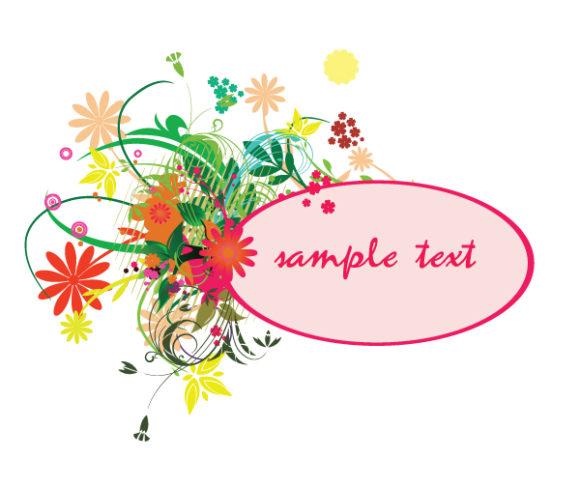 Best Illustration Vector Artwork: Spring Floral Frame Vector Artwork Illustration 1