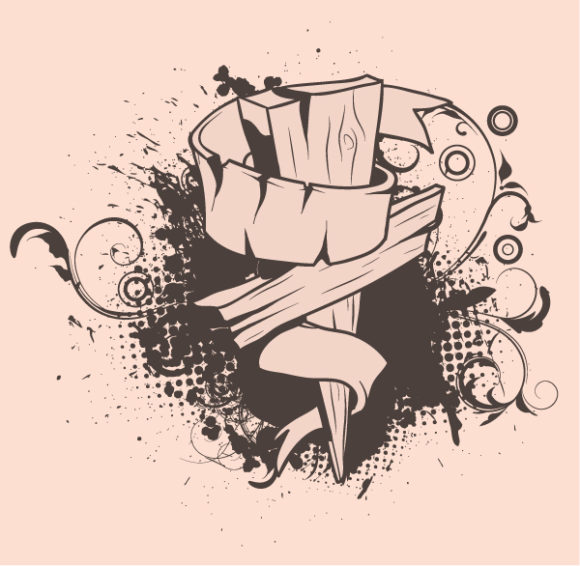 Special T-shirt Vector Artwork: Vector Artwork Grunge T-shirt Design With Cross 1