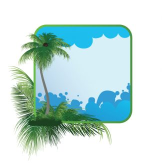 Summer Frame With Palm Tree Vector Illustration Vector Illustrations palm