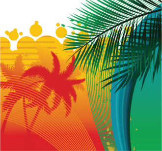 Summer Background With Palm Trees Vector Illustration Vector Illustrations palm