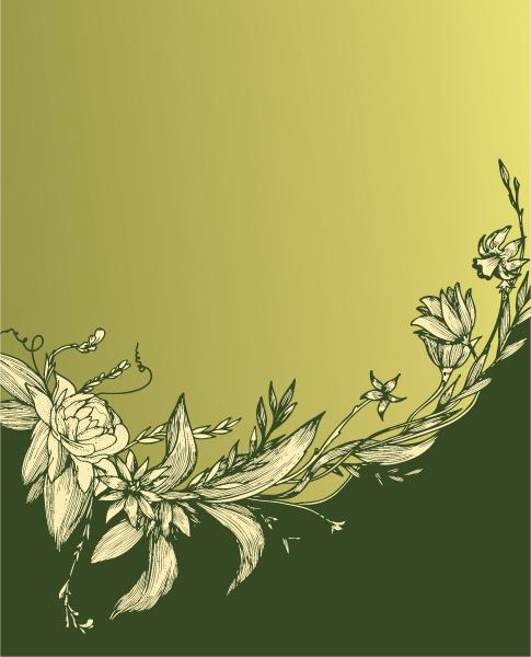 Vintage, Background Vector Design Vintage Floral Background Vector Illustration 1