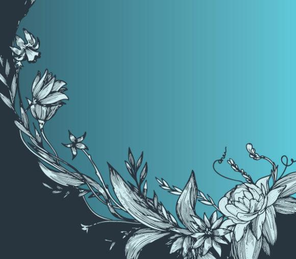 New Vector Vector Background: Vintage Floral Background Vector Background Illustration 1