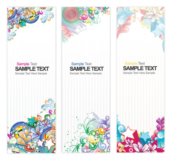 Brilliant Vector Vector Design: Web Banners With Floral Vector Design Illustration 1
