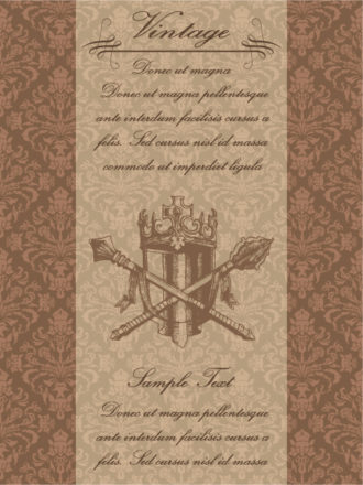 Vector Vintage Background With Crest Vector Illustrations old