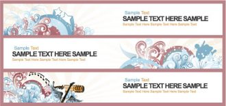 Retro Web Banners Vector Illustration Vector Illustrations star