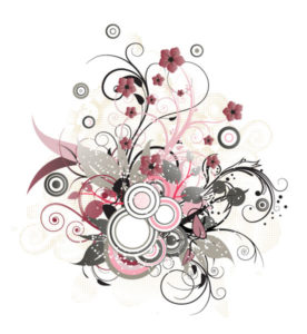 Vector Floral Illustration With Circles Vector Illustrations floral