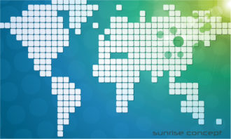 Vector Abstract Background With World Map Vector Illustrations vector