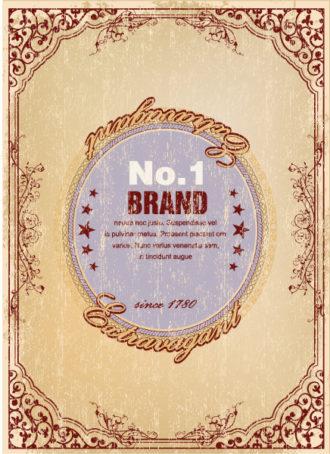 Vector Elegant Label With Grunge Background Vector Illustrations old