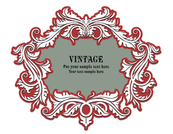 With, Space, Floral-3, Frame, For Vector Design Vintage Floral Frame With Space For Text 5