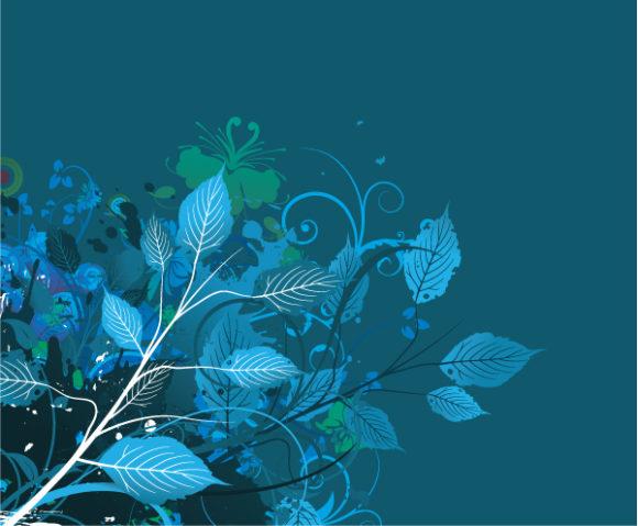 Illustration Vector Graphic Grunge Floral Background Vector Illustration 5