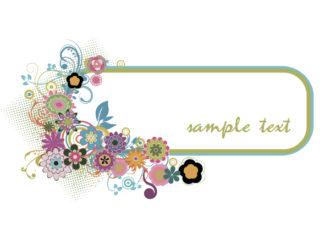 Popart Floral Frame Vector Illustration Vector Illustrations floral