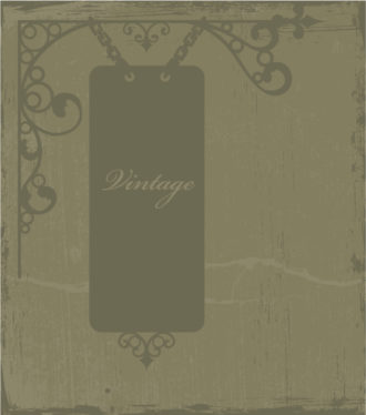 Vintage Background With Wrought Iron Sign Vector Illustration Vector Illustrations old