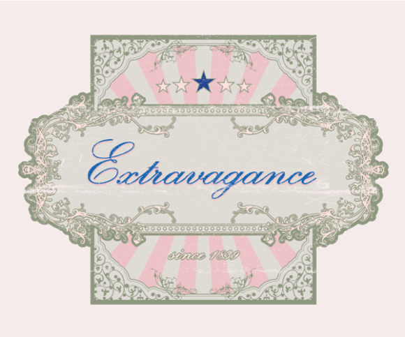 Illustration, Label Vector Graphic Grunge Floral Label Vector Illustration 2010 07 16 1098