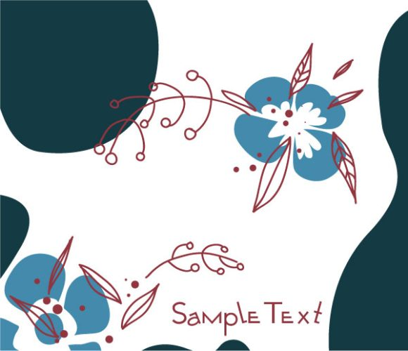 Bold Illustration Vector Background: Doodles Floral Background Vector Background Illustration 5