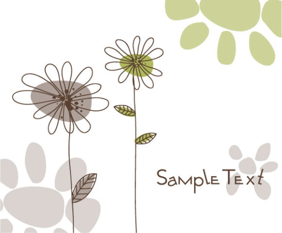 Bold Illustration Vector Graphic: Doodles Floral Background Vector Graphic Illustration 2010 07 19 10141
