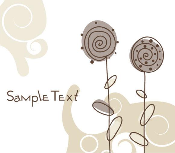 Doodles Vector Doodles Floral Background Vector Illustration 2010 07 19 10142