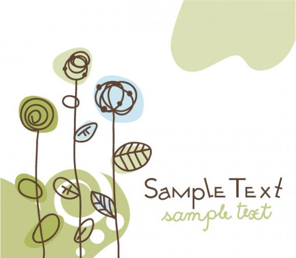 Doodles Vector Graphic: Doodles Floral Background Vector Graphic Illustration 2010 07 19 10144