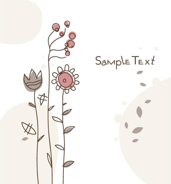 Vector, Floral Vector Design Doodles Floral Background Vector Illustration 2010 07 19 10145