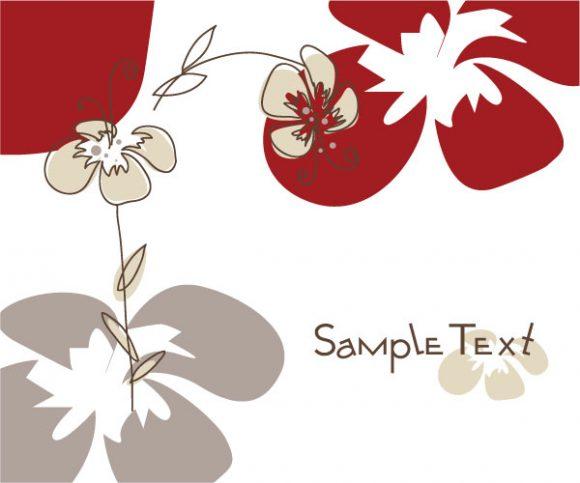 Striking Abstract-2 Vector Design: Doodles Floral Background Vector Design Illustration 5