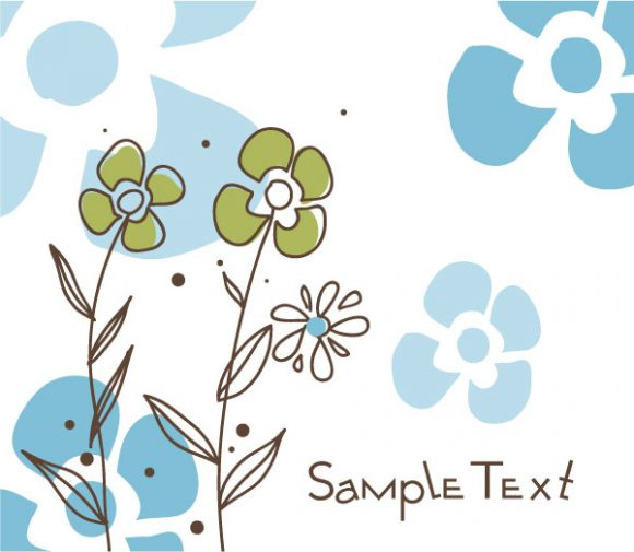 Amazing Floral Vector Image: Doodles Floral Background Vector Image Illustration 2010 07 19 10149