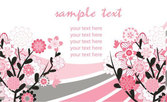 Best Floral Vector Illustration: Retro Floral Background Vector Illustration Illustration 2010 07 19 10158