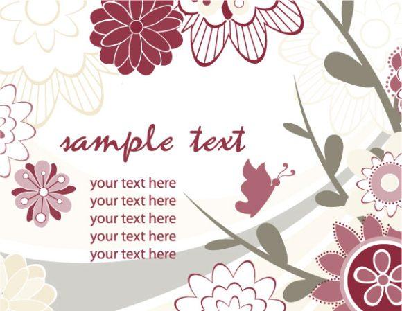 Background Vector Artwork Retro Floral Background Vector Illustration 5