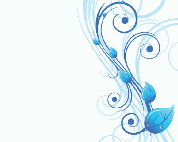 Illustration Vector Art: Vector Art Blue Floral Illustration 2010 07 19 10190