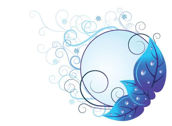 Illustration Vector Background Vector Blue Floral Illustration 2010 07 19 10193