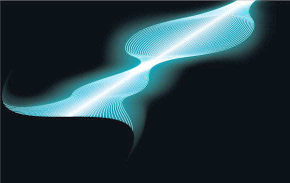 Elegance, Waves Vector Illustration Vector Abstract Background With Waves 5