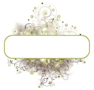 Floral Frame With Circles Vector Illustration Vector Illustrations old