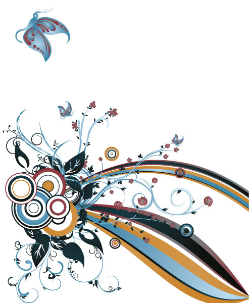 Vector, Abstract Vector Design Abstract Floral Background Vector Illustration 5