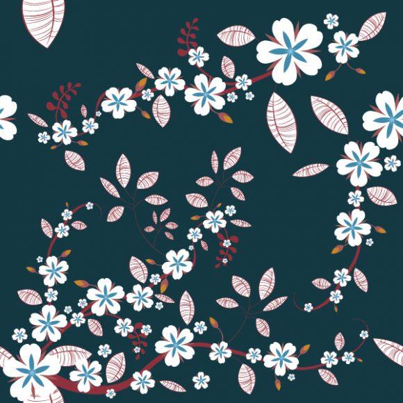 Background Vector Design: Seamless Floral Background Vector Design Illustration 2010 07 20 1013