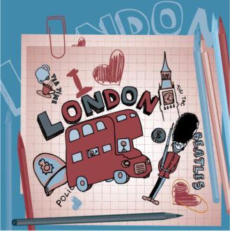 London Doodles Vector Illustration Vector Illustrations vector