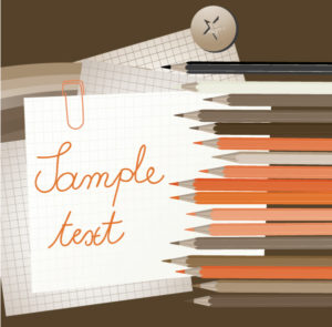 Vector Abstract Illustration With Pencils Vector Illustrations vector