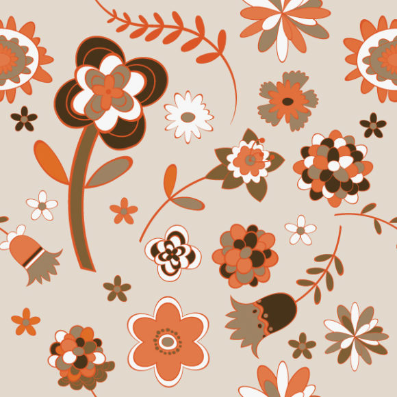 Insane Seamless Vector Background: Seamless Floral Background Vector Background Illustration 5