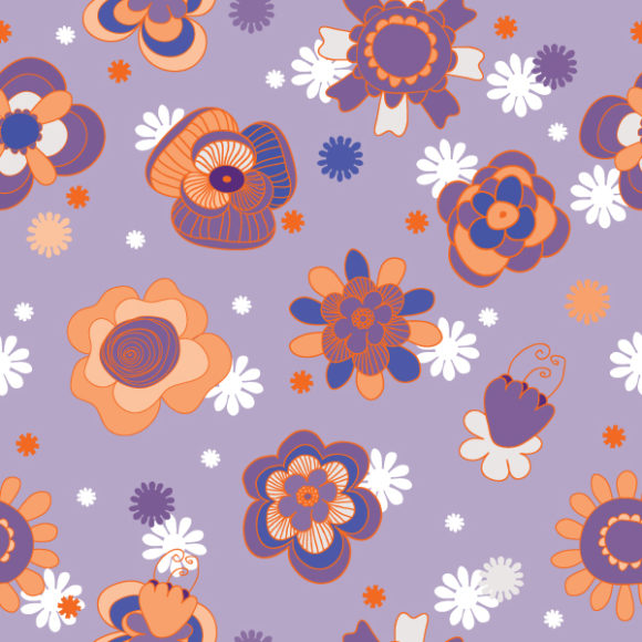 Abstract-2, Vector Vector Graphic Seamless Floral Background Vector Illustration 2010 07 20 1063