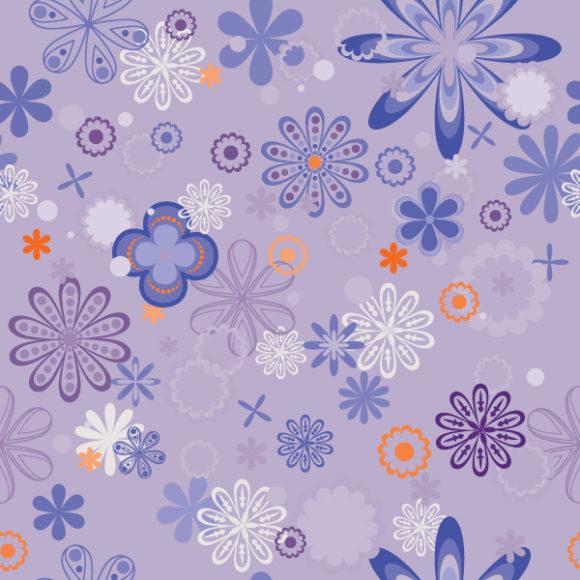 Astounding Vector Vector Background: Seamless Floral Background Vector Background Illustration 5