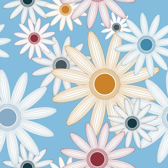 Vector Eps Vector Seamless Floral Background Vector Illustration 2010 07 20 1066