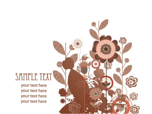 Background, Floral Vector Graphic Retro Floral Background Vector Illustration 2010 07 20 1084