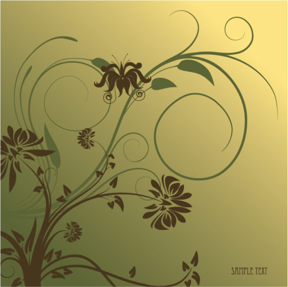 Floral Vector Graphic: Abstract Floral Background Vector Graphic Illustration 2010 07 20 1085