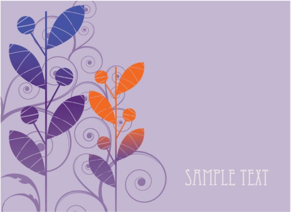 Striking Floral Vector Image: Abstract Floral Background Vector Image Illustration 2010 07 20 1092