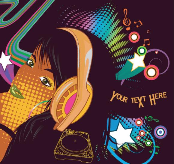 Amazing Popart Vector Illustration: Popart Concert Poster Vector Illustration Illustration 5