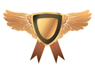 Vector Gold Medal With Wings Vector Illustrations old