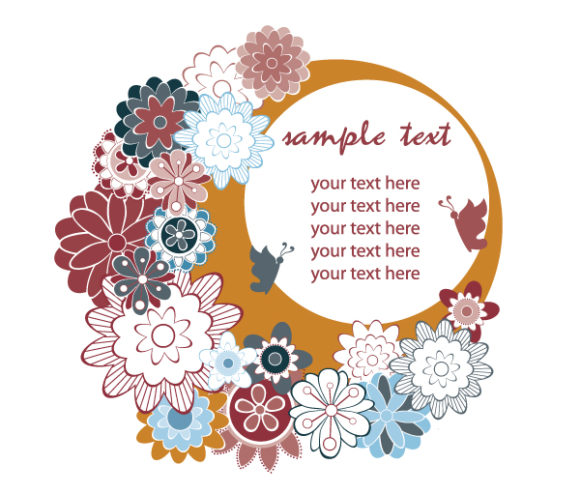 Amazing Abstract-2 Eps Vector: Eps Vector Retro Frame With Floral 2010 07 22 101