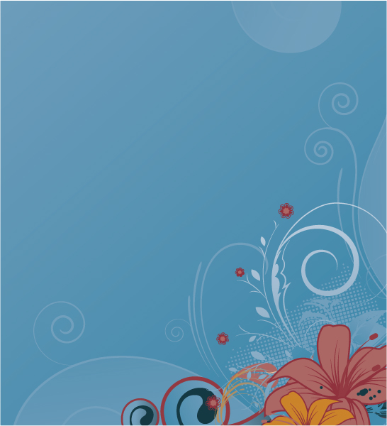 Vector, Illustration Eps Vector Vector Retro Floral Illustration 2010 07 22 10151