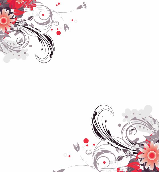 Exciting Vector Vector Art: Vector Art Retro Floral Illustration 5