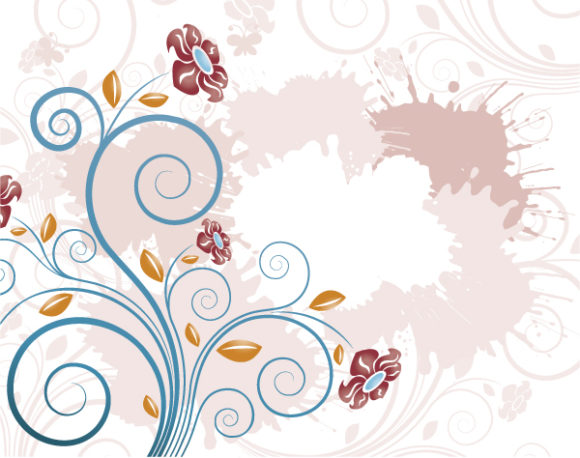 Gorgeous Flower Eps Vector: Eps Vector Grunge Background With Flower 2010 07 22 1020