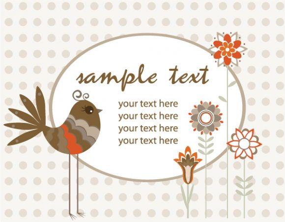 Vector Vector Background Vector Spring Floral Illustration With Bird 5